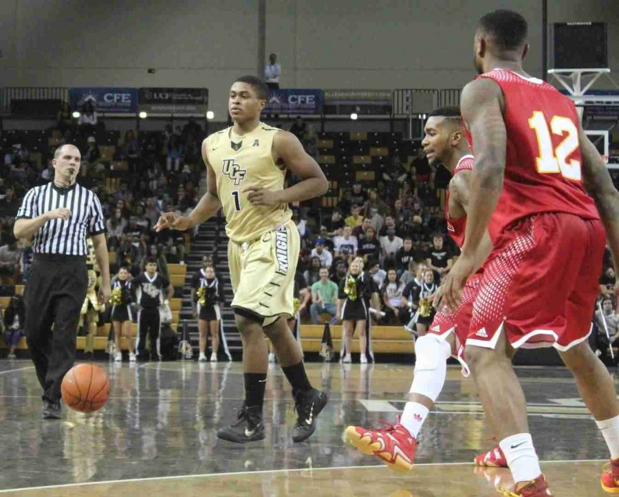 B.J.+Taylor+had+23+points+in+his+first+game+in+a+UCF+uniform%2C+as+the+Knights+defeated+Flagler+College+96-70.