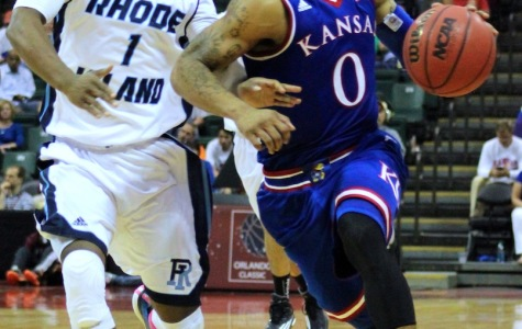 Kansas advanced to the Orlando Classic semifinals with the win over Rhode Island.