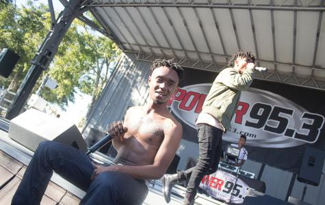 Rae Sremmurd performing at Power 95.3's Calle Orange in Orlando, Florida on Sunday, Oct. 26. (Ty Wright / Valencia Voice)
