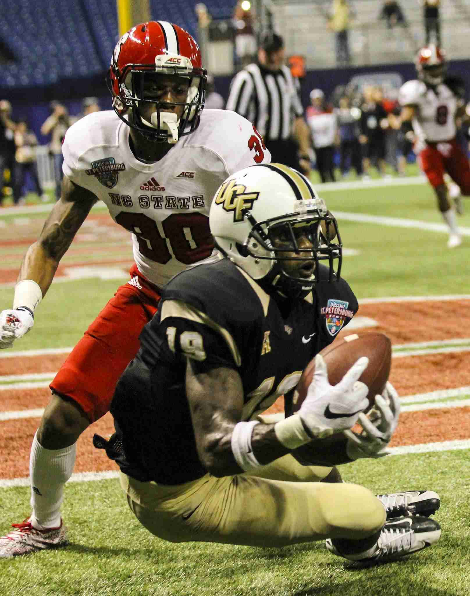 Josh Reese caught a Bitcoin Bowl record three touchdown catches and was named UCF's MVP for the game in the loss to NC State.