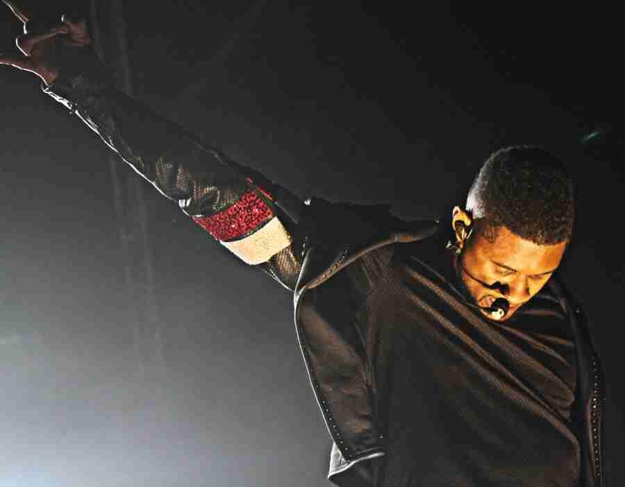 Usher performing at