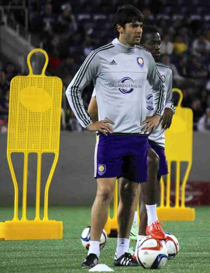 Orlando+City+midfielder+Kaka+told+manager+Adrian+Heath+that+he+had+only+played+on+artificial+turf+once+before+in+his+career.