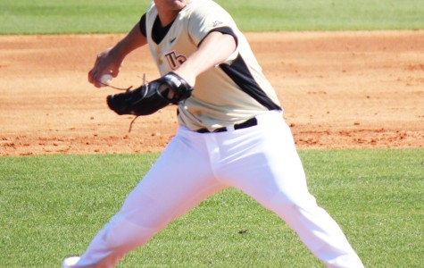 Cre Finfrock pitched 6 innings and gave up no runs on three hits and struck out five in his UCF debut.