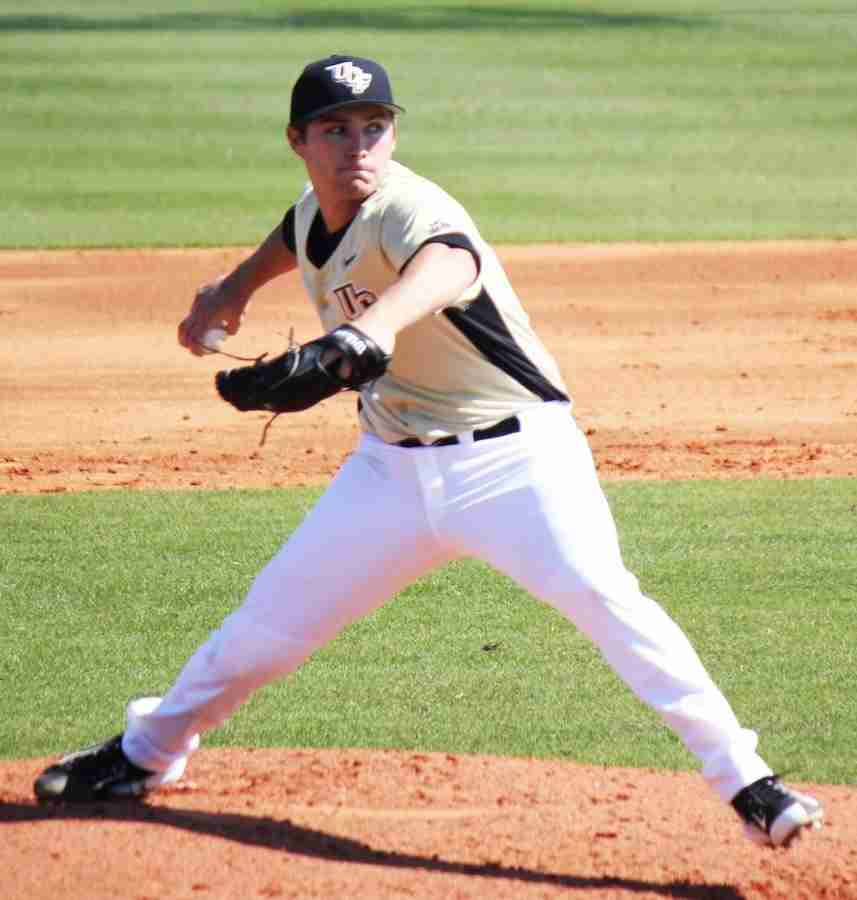 Cre+Finfrock+pitched+6+innings+and+gave+up+no+runs+on+three+hits+and+struck+out+five+in+his+UCF+debut.
