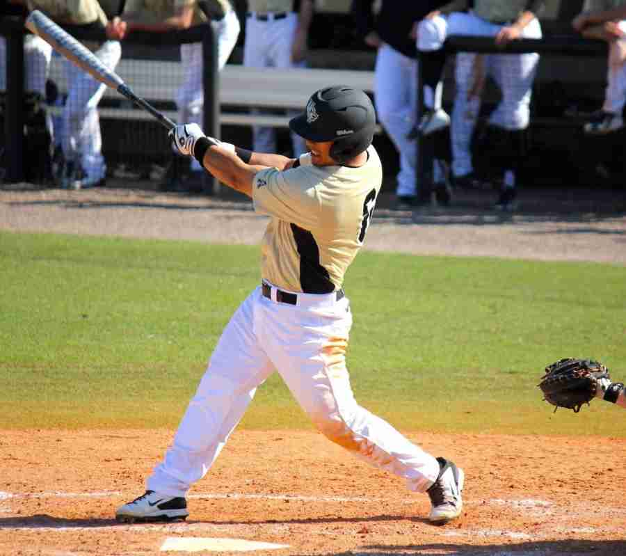JoMarcos Woods finished Sunday's game with a walk and an RBI in the Knights' win.