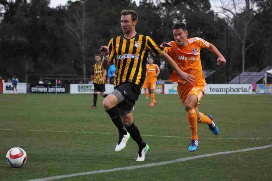 The Charleston Battery defeated the Houston Dynamo 1-0 in the opening game of the Carolina Challenge Cup.