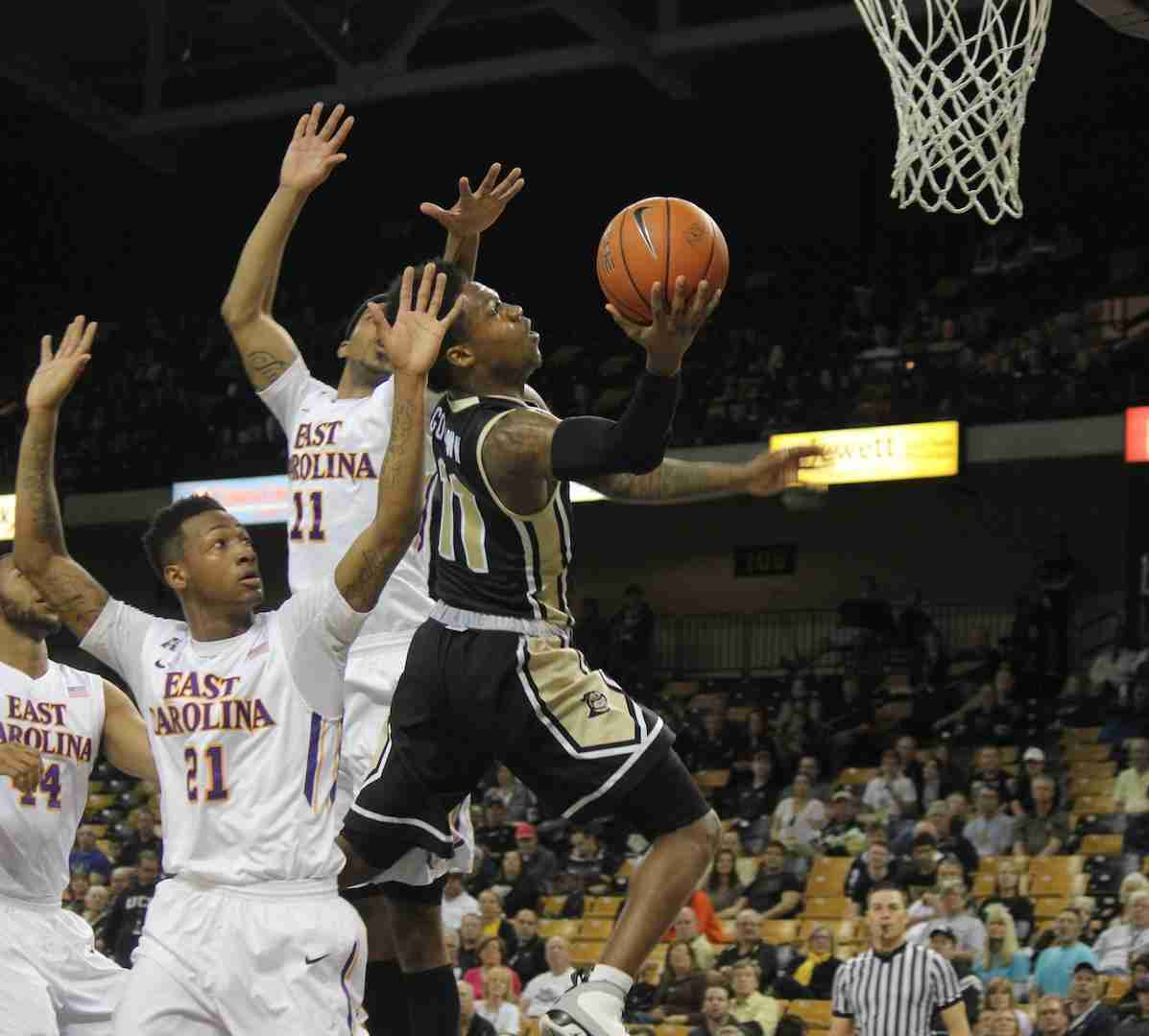 Brandon Goodwin scored nine points and had eight assists in the loss against ECU.