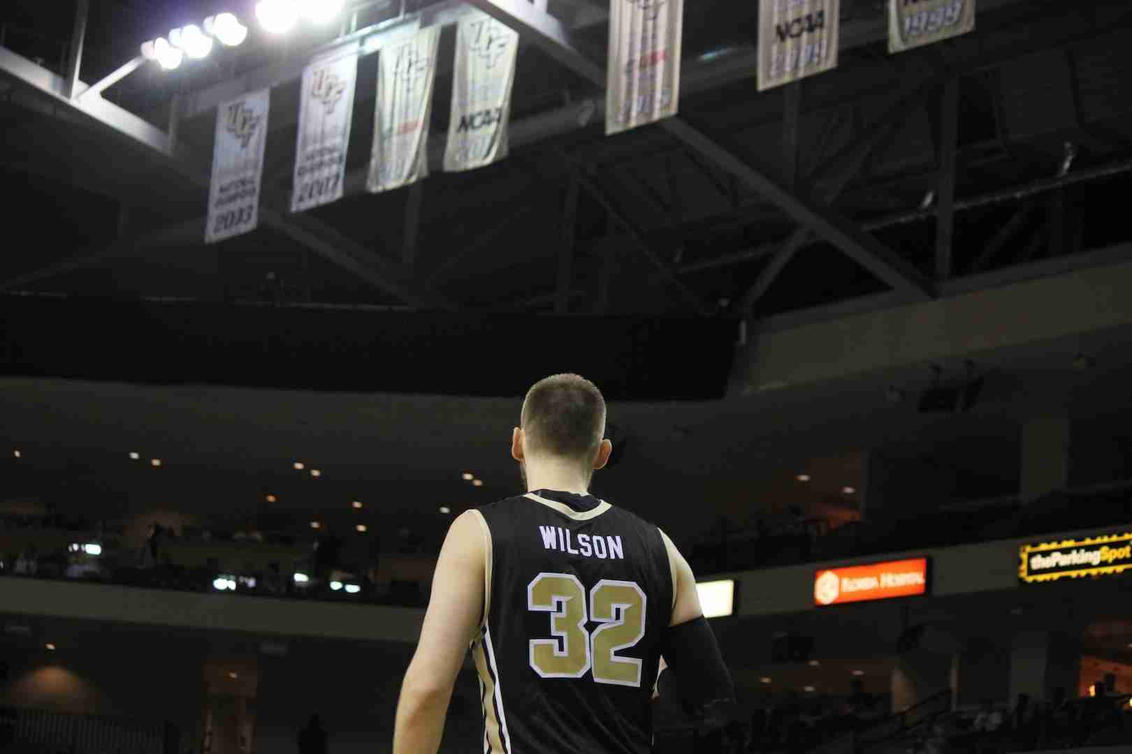 Senior+forward+Kasey+Wilson+played+in+his+final+game+at+CFE+Arena+on+Saturday+against+ECU