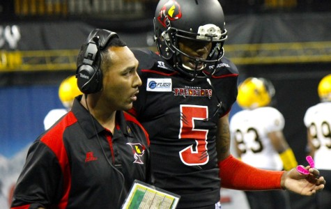Siaha Burley (left) will be  the Predators offensive coordinator for the second year in a row in 2015.