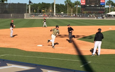 Shortstop Dylan Moore finished the game 1-3 with a home run and an RBI.