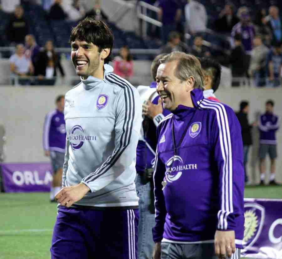 Kaká (left) has played in three different FIFA World Cups for Brazil's National Team.