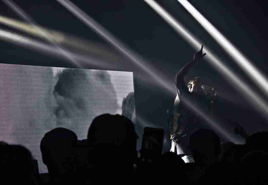 """Big Sean performs during the """"Dark Sky Paradise Tour"""" at Venue 578 in Orlando, Florida, Sunday, March 22, 2015 (Ty Wright / Valencia Voice)."""