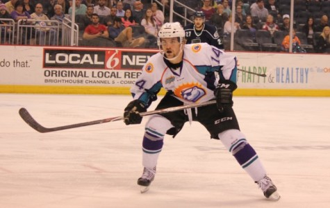 Forward Johnny McInnis led the Solar Bears with two goals.