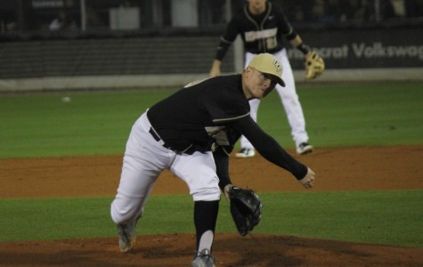 Knights starting pitcher Zach Rodgers picked up his eighth win of the season on Friday night.