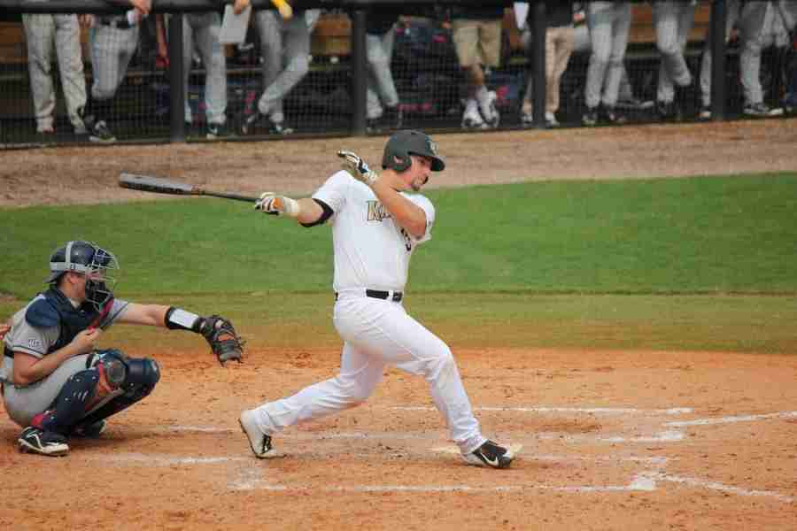 UCF first baseman James Vasquez finished the game by going 0-3 at the plate.