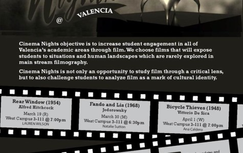 There are only two scheduled Cinema Nights left in the 2015 Spring semester.