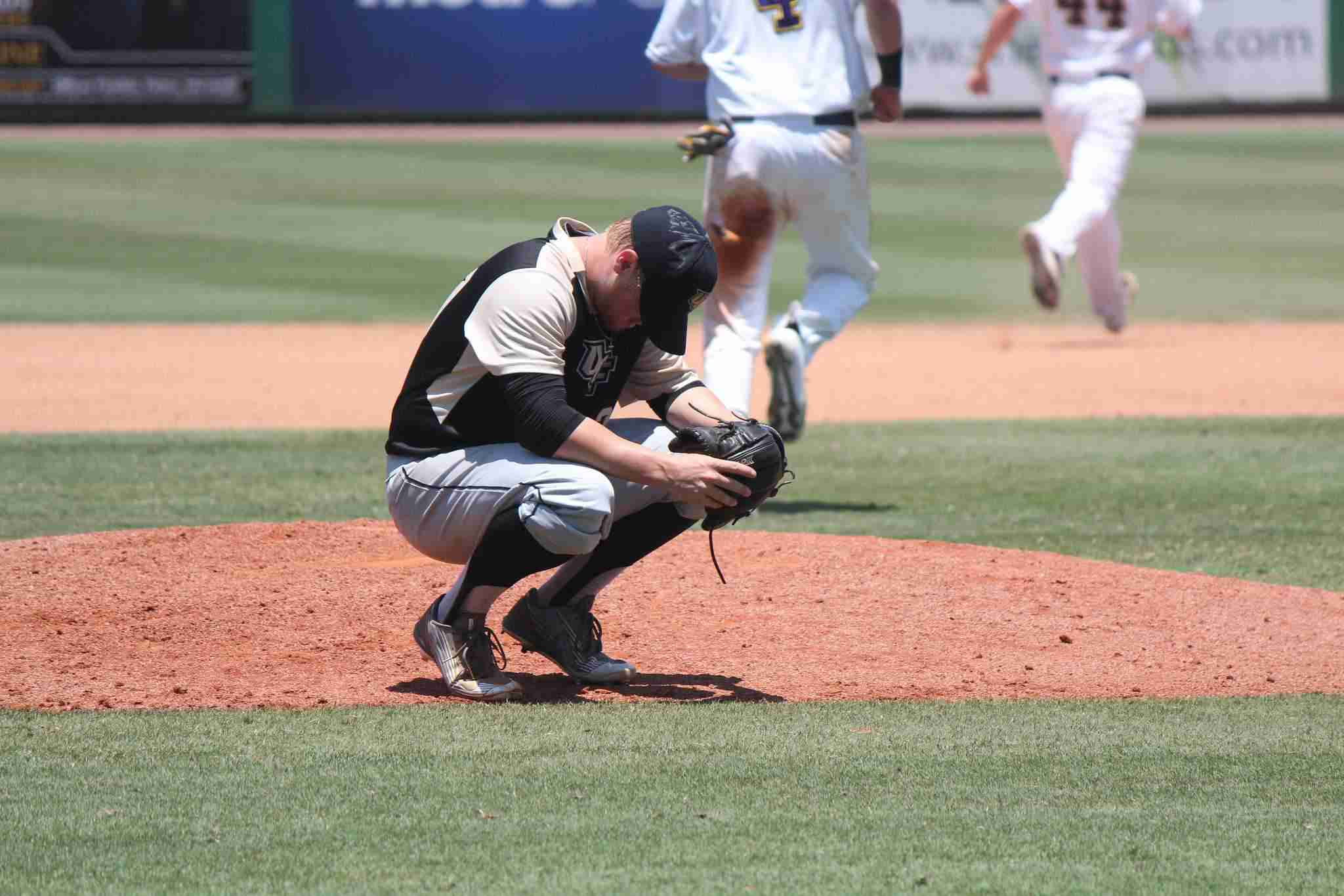 Knights starting pitcher Zach Rodgers suffered his first loss of the season on Wednesday.