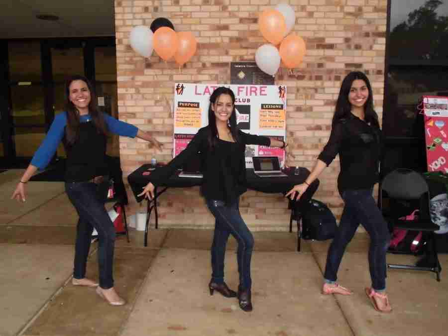 Valencia Student Ireana Ugarte Uzcategui (middle) is the president of the Latin Fire salsa club on West Campus.