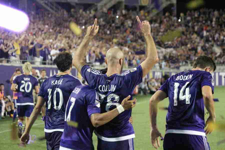 Aurélien Collin scored the game-tying goal in the 90th minute to give Orlando City a 2-2 draw against the New England Revolution.