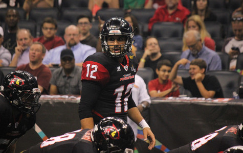 Randy Hippeard leads the league with a 73.9 percent pass completion average.