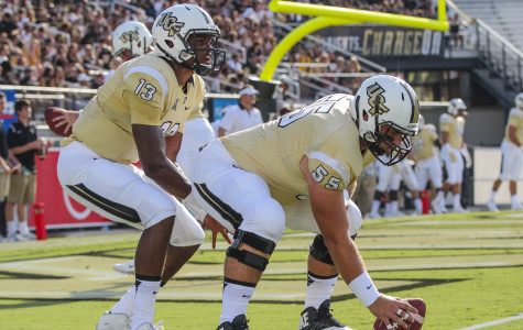 Justin Holman (left) will be out for 2-4 weeks with a hand injury, while Joey Grant will miss the remainder of the season for UCF.