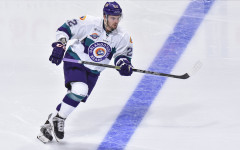 Brady Vail scored the first goal of the Solar Bears 2015-16 season in Orlando's 6-3 win over Greenville.