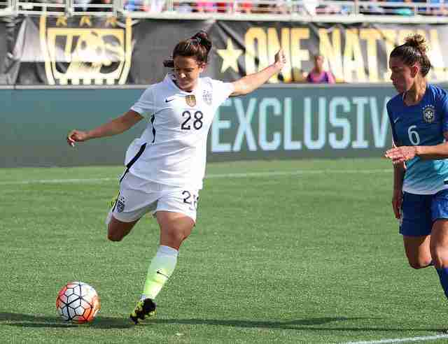 Stephanie+McCaffrey+scored+in+her+first+appearance+for+the+U.S.+National+Team%2C+becoming+the+first+player+to+do+so+since+Christen+Press+in+2013.
