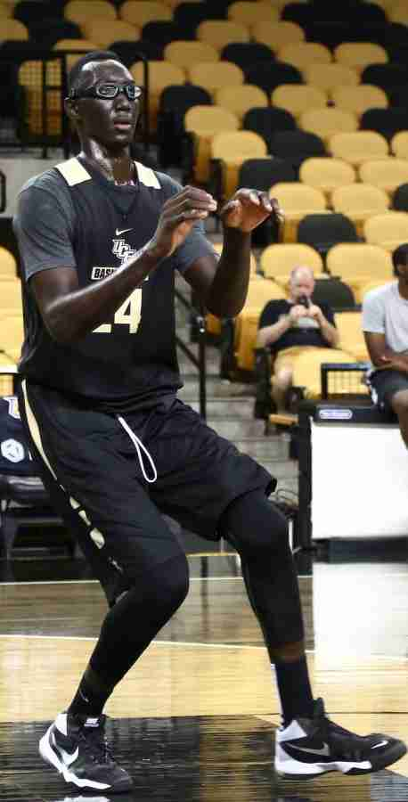 Tacko Fall played 14 minutes in his first collegiate game on Saturday at Davidson.