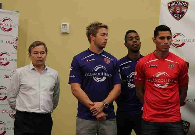 Miguel Gallardo (right) and Bryan Burke (middle left) were a part of the 2013 USL Pro Championship teams.