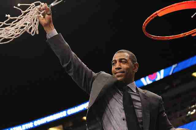 Head coach Kevin Ollie nd the Huskies claimed their first ever AAC Tournament title.