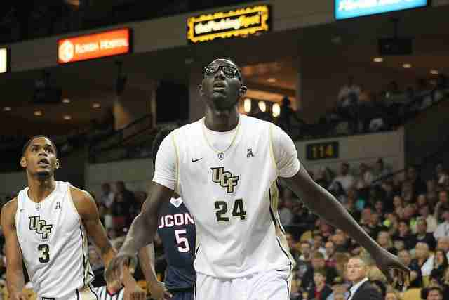 Over the last two games, Tacko Fall is averaging 15 points, 13.5 rebounds and five blocks.