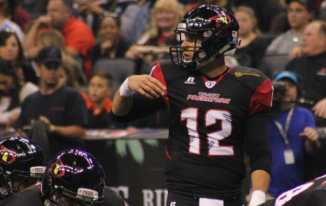 Randy Hippeard threw for 228 yards and six touchdowns while running in two more.