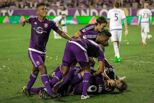 Cyle Larin scored the game-winning goal in the 87th minute to give Orlando City their first win since April 3.