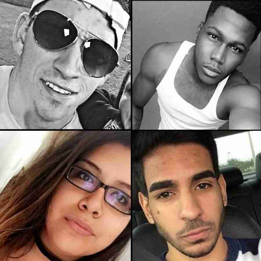 From left to right: Cory Connell, Jason Josphat, Mercedez Flores and Juan Guerrero were among the 49 victims killed in the Pulse Nightclub shooting.
