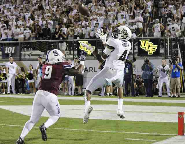 Tre'Quan Smith had four receptions and a touchdown in UCF's 38-0 win over South Carolina State.