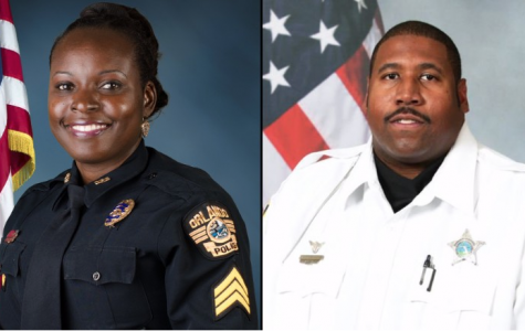Valencia College Criminal Justice Institute Alumni Master Sgt. Debra Clayton and Deputy First Class Norman Lewis.