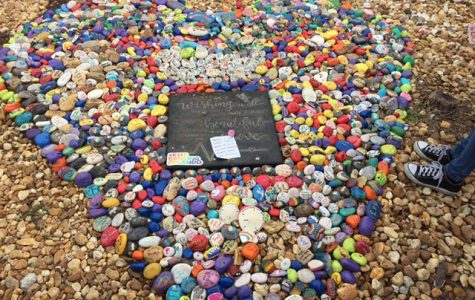 Rock sculpture honors the memories of the #49 who lost their lives one year ago.