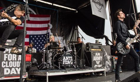 Anti-Flag plays at the Warped Tour in Orlando.