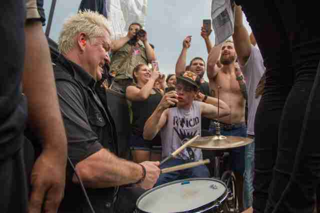 Anti-Flag Drummer, Pat Thetic, Rocks Out at Warped Tour Orlando.