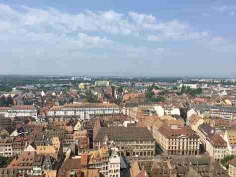 The view from the top of the Strasbourg Cathedral