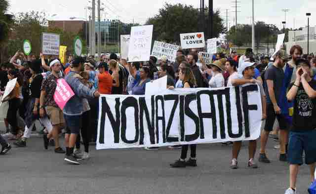 Protesters march at #UF.