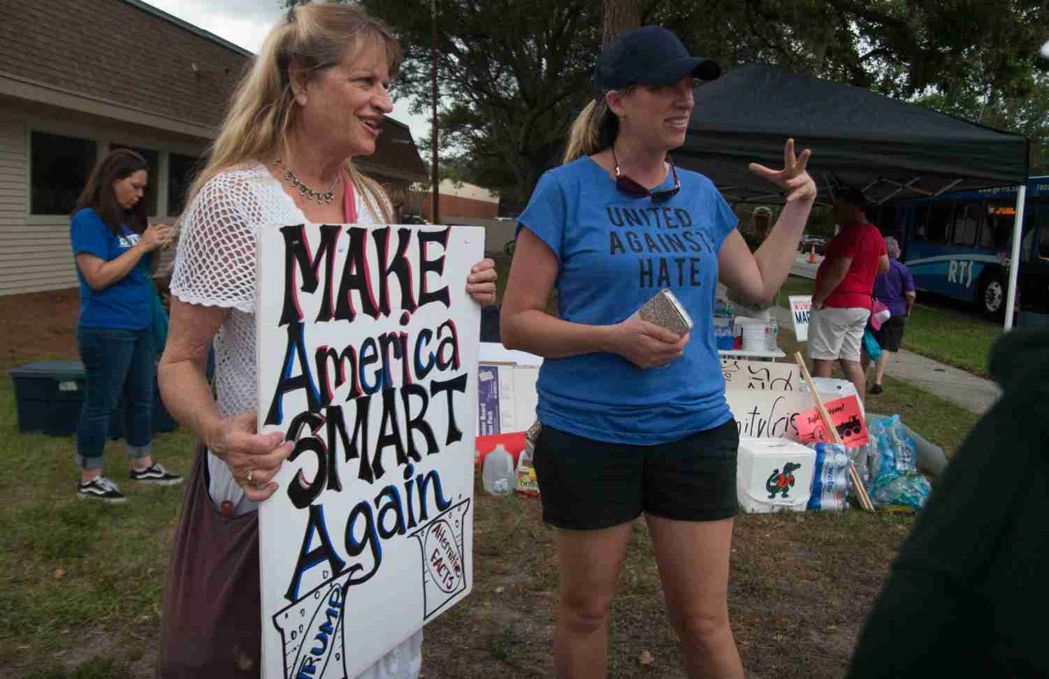 Protesters take a stand at University of Florida on Oct. 19.