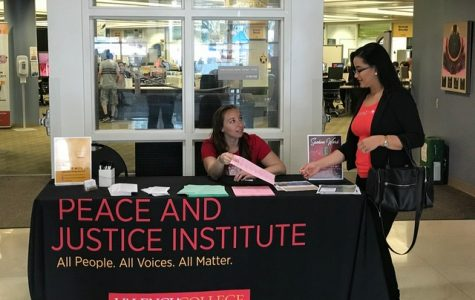 Nicole Valentino spreading the word about Conversation on Justice.
