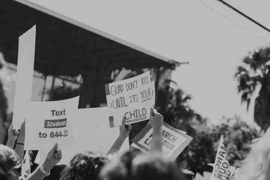 Signs from the March For Our Lives event at Lake Eola Park in Orlando, FL on March 24, 2018.