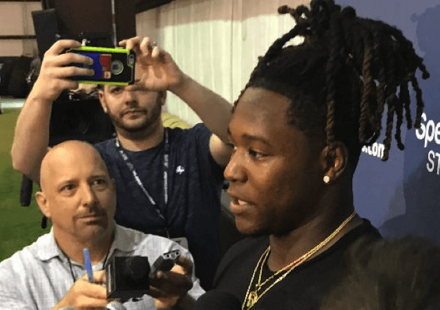Shaquem Griffin, former UCF Linebacker speaks with the media about the next chapter in his career.