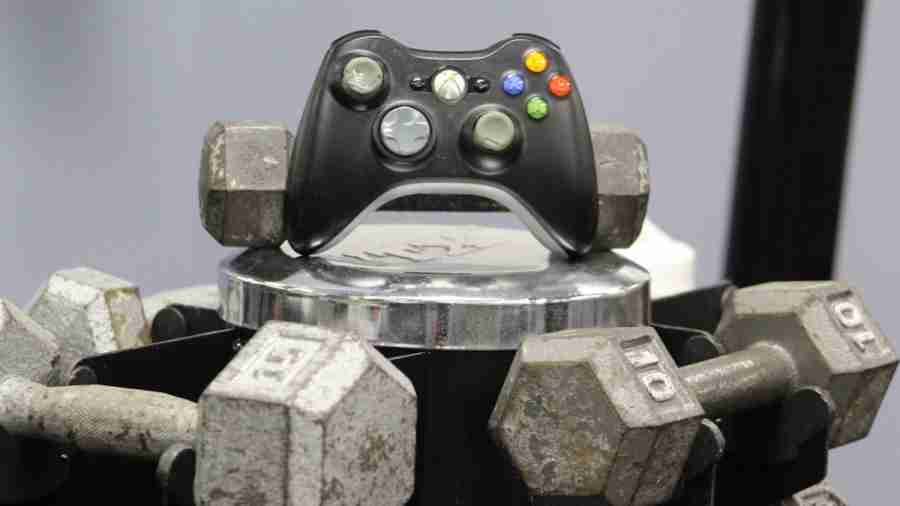 Game+controller+on+barbells