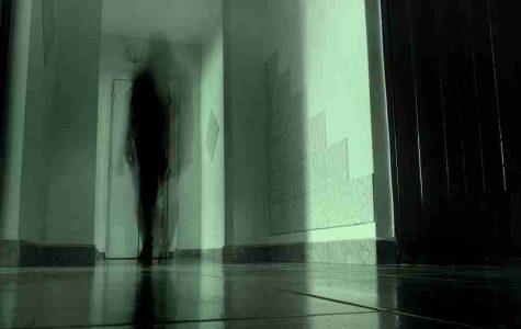 shadowy figure in hallway