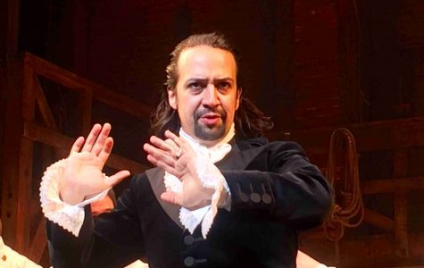 Hamilton creator Lin-Manuel Miranda in performing as the titular Alexander Hamilton.