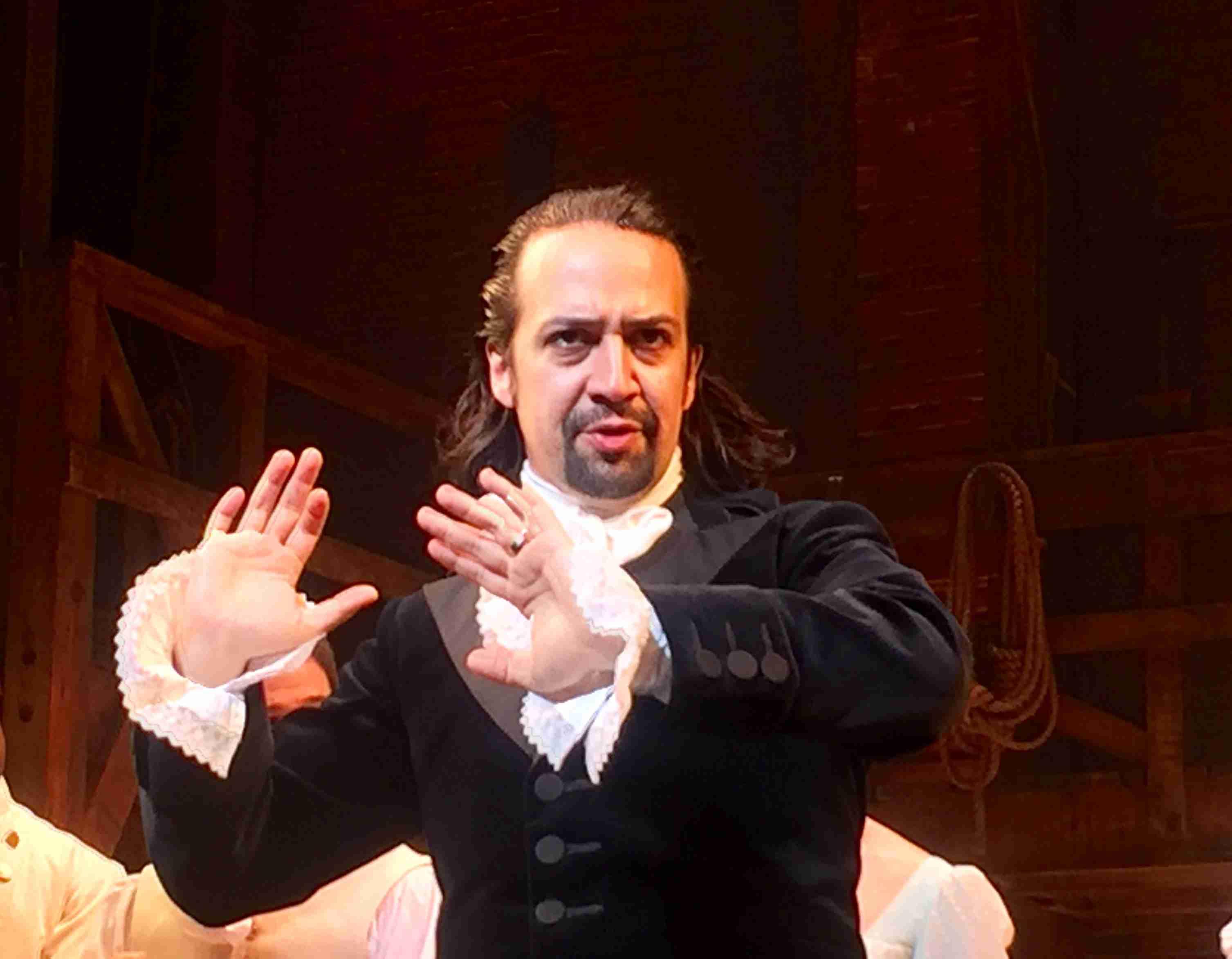 Hamilton creator Lin-Manuel Miranda in performing as the titular Alexander Hamilton.