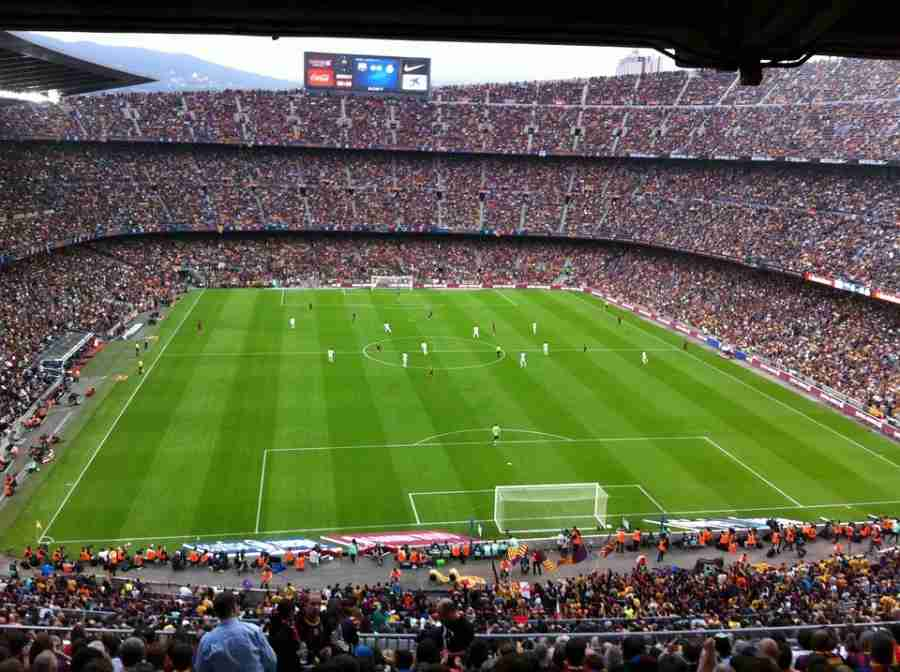 Wednesday's El Classico was played at Real Madrid's Camp Nou.